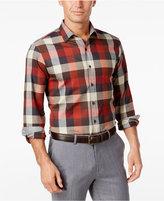 Tasso Elba Men's Plaid Soft Cotton Long-Sleeve Shirt, Classic Fit