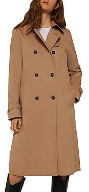 Marella Cheque Double Breasted Trench Coat
