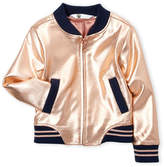 Petit Lem Girls 4-6x) Metallic Bomber Jacket