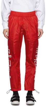 Palm Angels Red Desert Logo Track Pants