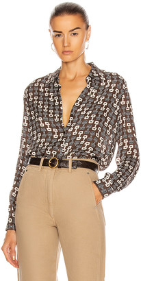 L'Agence Nina Long Sleeve Blouse in Carafe & Ivory Buckle | FWRD