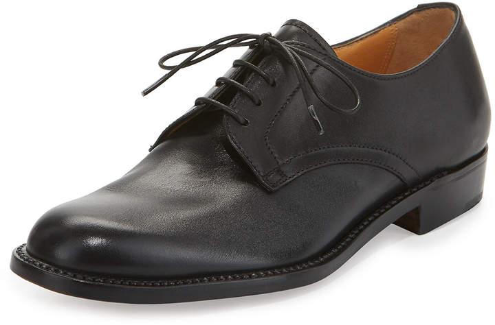 Gravati Calf Leather Lace-Up Oxford, Black
