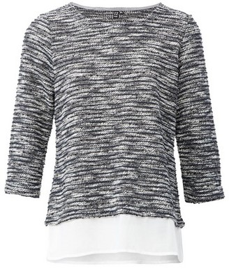 Dorothy Perkins Womens Izabel London Grey Casual Knitted Top, Grey