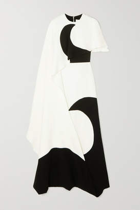 Valentino Layered Printed Silk-jersey Gown - Ivory