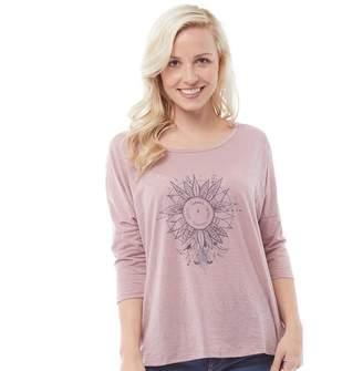 Animal Womens Cosmica Long Sleeve T-Shirt Woodrose Pink