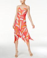 Calvin Klein Printed Spaghetti-Strap Midi Dress