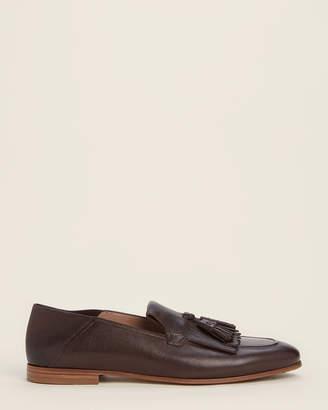 Salvatore Ferragamo Dark Brown Arizona Leather Loafers