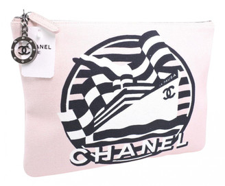 Chanel Pink Tweed Clutch bags