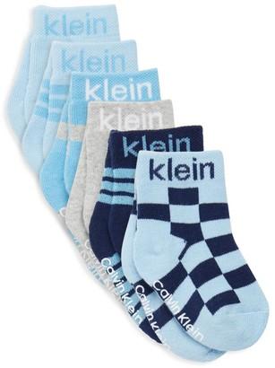 Calvin Klein Six-Pack Check Socks