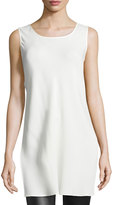 Lafayette 148 New York Letty Sleeveless Silk Tunic Top, Cloud