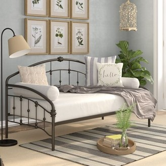 Three Posts Dolder Twin Daybed Color: Matte Black