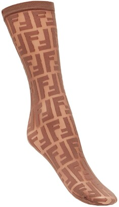 Fendi Logo Embroidered Socks