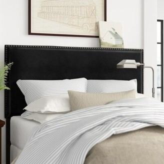 Three Posts Immingham Upholstered Panel Headboard Size: King / California King, Upholstery: Brown