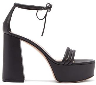 Gianvito Rossi Sydney 70 Leather Platform Sandals - Black