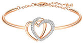 Swarovski Dear Interlocking Heart Bangle Bracelet