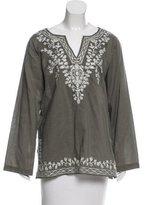 MICHAEL Michael Kors Embroidered Long Sleeve Top