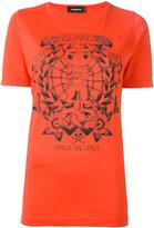 DSQUARED2 long tattoo graphic T-shirt - women - Cotton - M