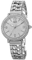 Burgi Women's BUR140SS Swarovski Crystal Filled Silver Bracelet Watch