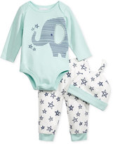 First Impressions 3-Pc. Hat, Elephant Bodysuit & Pants Set, Baby Boys (0-24 months), Only at Macy's
