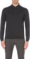 HUGO BOSS Regular-fit knitted polo shirt