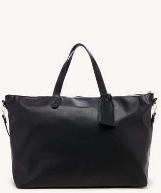 Sole Society Women's Candice Weekender Vegan Leather In Color: Black3 Bag From