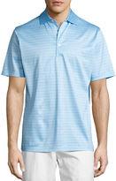 Peter Millar Jordan Striped Cotton Lisle Polo Shirt