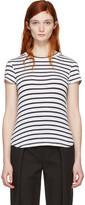 Frame White Striped Classic Crew T-Shirt
