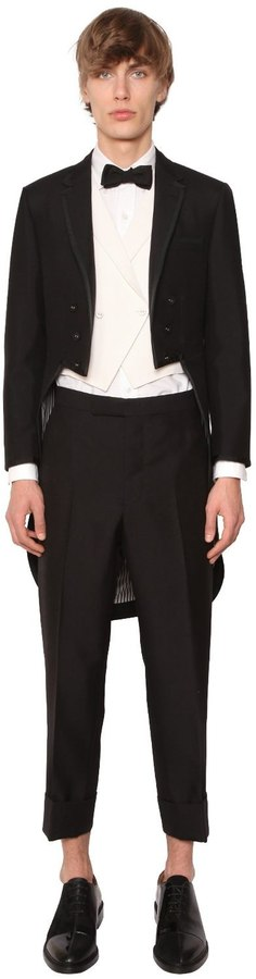 Thom Browne Mohair & Wool Tailcoat Tuxedo Suit