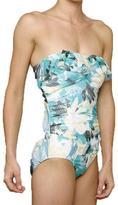 Jantzen 'Lovely Layers' 1-piece Turquoise Swimsuit