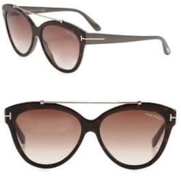 Tom Ford Livia 56MM Cat Eye Sunglasses