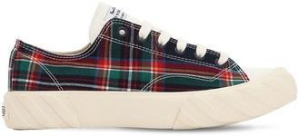 Age Across To Genuine Era CHECKED COTTON CANVAS SNEAKERS