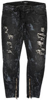 Balmain Distressed Metal Mesh Jeans