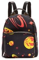 Miu Miu Planet-print canvas backpack