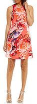 Calvin Klein Floral Chiffon Trapeze Dress