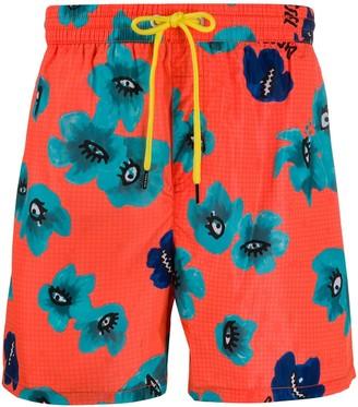 Diesel Floral-Print Swim Shorts