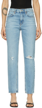 RE/DONE Blue 70s Straight Rigid Jeans