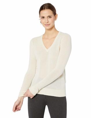 Majestic Filatures Women's Cashmere Long Sleeve V-Neck Sweater