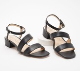 Sole Society Leather or Textile Heeled Sandals- Francey