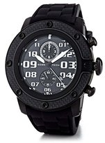Glam Rock Men's GR33113 SoBe Chronograph Black Dial Black Silicon Watch