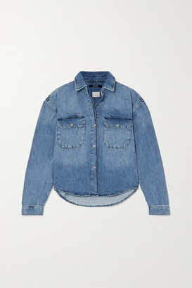 Ksubi Relaxo Distressed Denim Shirt - Mid denim