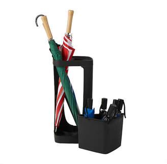 MINDREADER Mind Reader Plastic Small & Large Umbrella Holder, Entryway Umbrella Rack Holder for Canes, Walking Sticks, Umbrellas, Home & Office