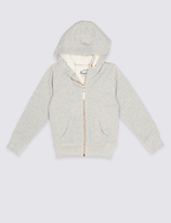 Marks and Spencer Cotton Rich Hooded Sweatshirt (3-14 Years)
