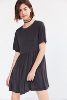 Silence & Noise Silence + Noise Cupro Babydoll Mini T-Shirt Dress
