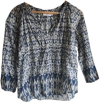 Velvet Blue Cotton Top for Women