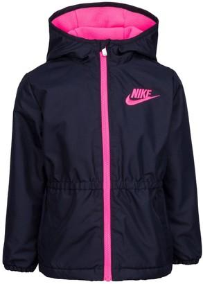 Nike Girls 4-6x Ripstop Hooded Anorak Full-Zip Jacket