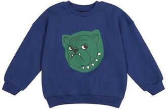 Mini Rodini Bulldog cotton jersey sweatshirt
