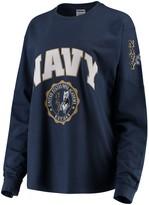 Unbranded Women's Navy Navy Midshipmen Edith Long Sleeve T-Shirt
