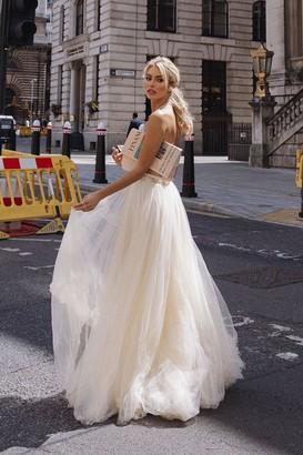 Coast Encrusted Bodice Tulle Skirt Maxi Dress