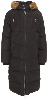 Claudie Pierlot Faux Fur-trimmed Quilted Shell Hooded Down Coat