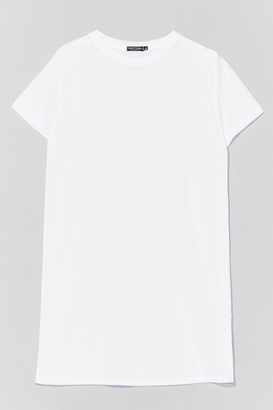 Nasty Gal Womens Let's Start with the Basics Longline Tee - White - S